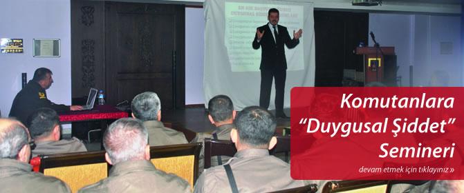 Nevşehir İl Jandarma Komutanlığı'na 'Duygusal Şiddet' Semineri