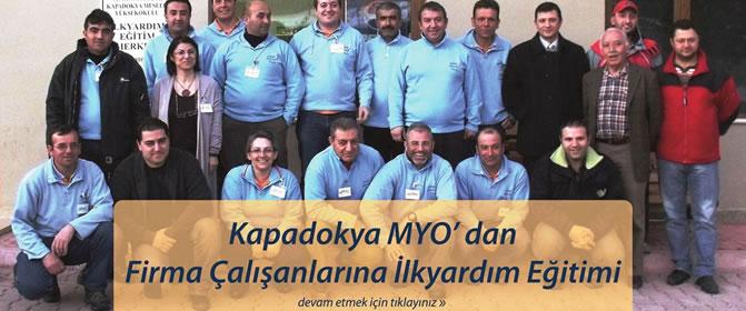 Kapadokya MYO' dan Firma Çalışanlarına İlkyardım Eğitimi