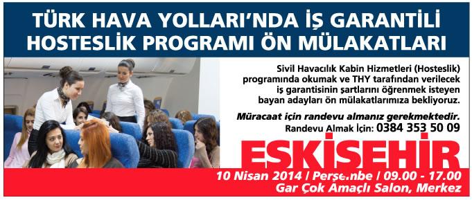 SH Kabin Hizmetleri Programı Ön Mülakatları Eskişehir'de Devam Ediyor