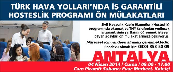SH Kabin Hizmetleri Programı Ön Mülakatları Antalya'da Devam Ediyor