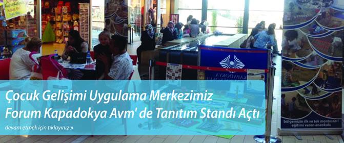 Çocuk Gelişimi Uygulama Merkezimiz Forum Kapadokya Avm'de Tanıtım Standı Açtı