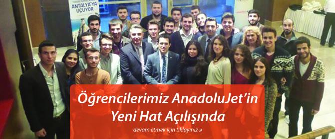 Öğrencilerimiz AnadoluJet'in Yeni Hat Açılışında