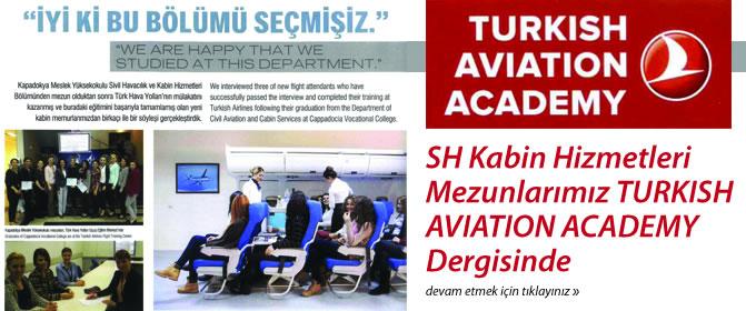 SH Kabin Hizmetleri Mezunlarımız TURKISH AVIATION ACADEMY Dergisinde