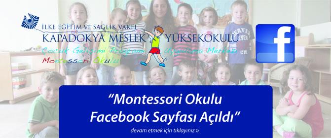 Montessori Okulu Facebook Sayfası Açıldı