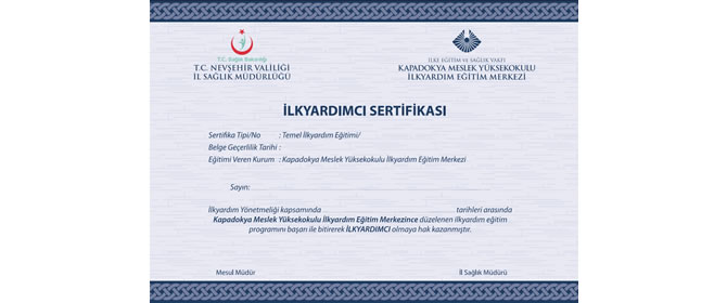 Nevşehir'de İlkyardım Eğitim Kursu